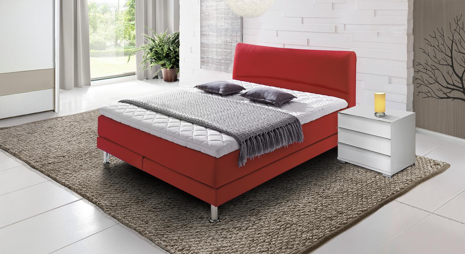 boxspringbett gr e 140x200 cm im h rtegrad h3 asheville. Black Bedroom Furniture Sets. Home Design Ideas