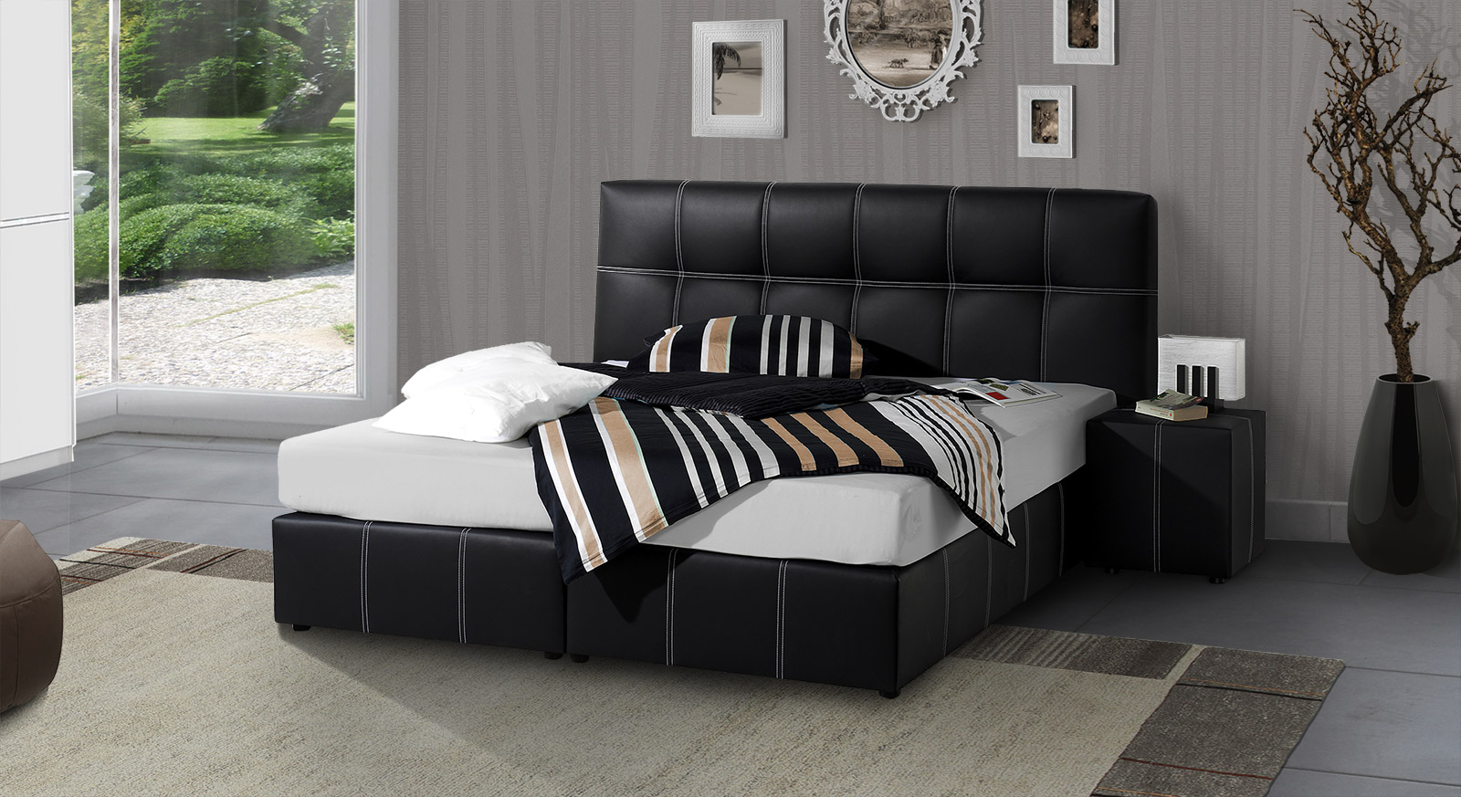 luxus nachttisch wei f r boxspringbett ebenbild erindzain. Black Bedroom Furniture Sets. Home Design Ideas
