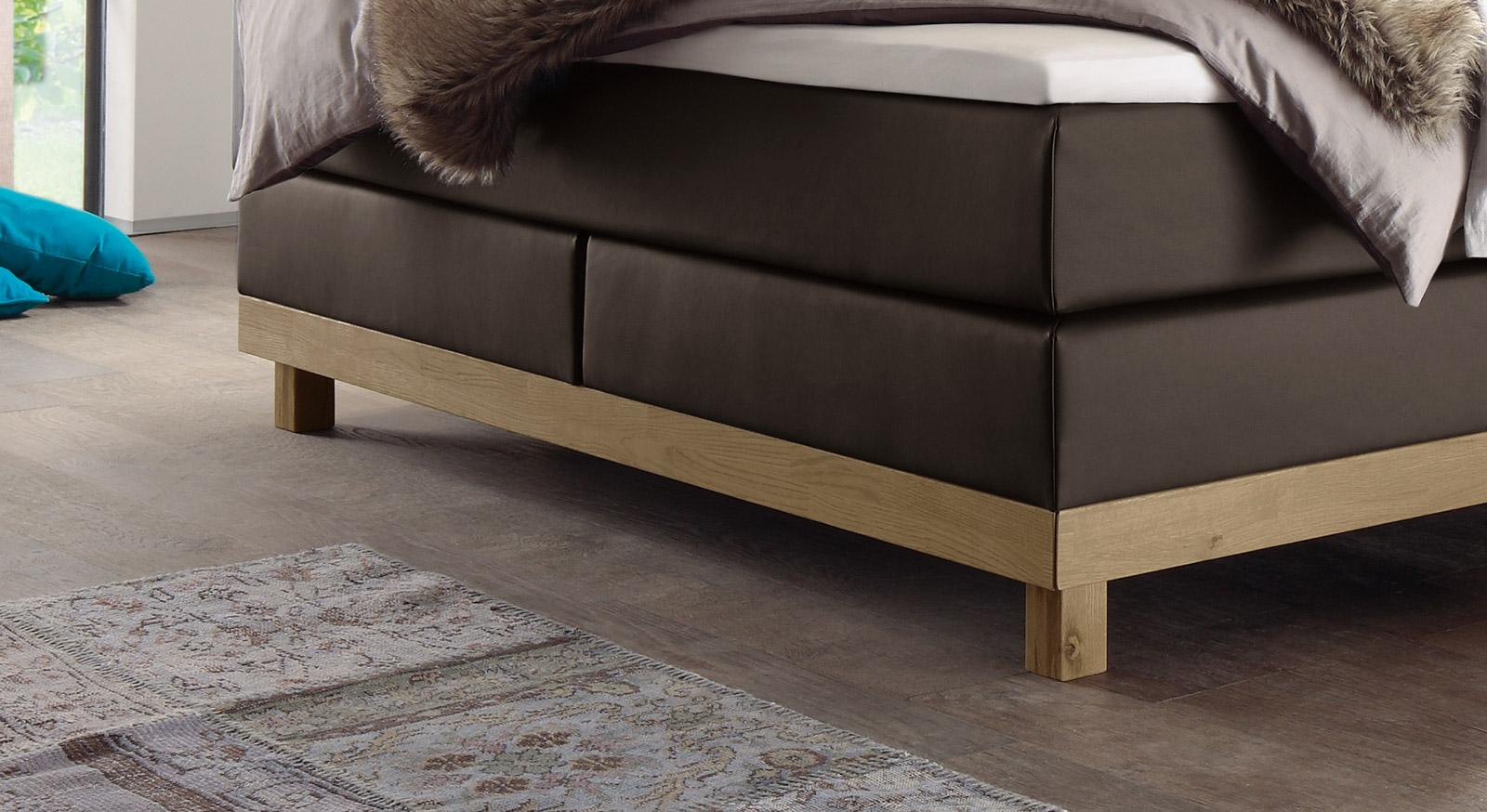 boxspringbett holz eiche. Black Bedroom Furniture Sets. Home Design Ideas