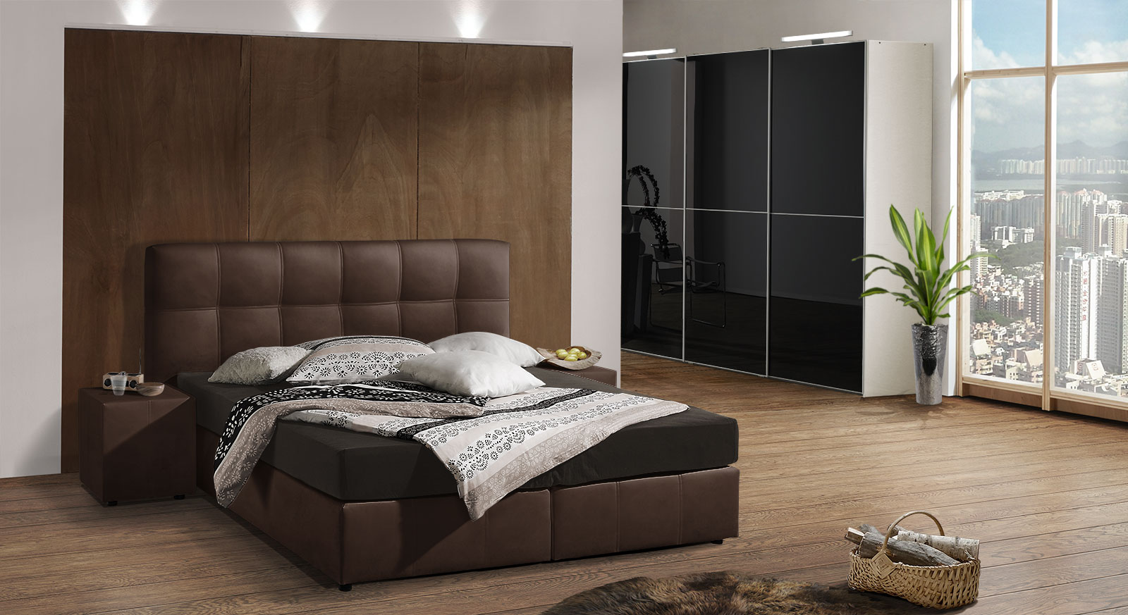 schlafzimmer boxspringbett lilashouse. Black Bedroom Furniture Sets. Home Design Ideas