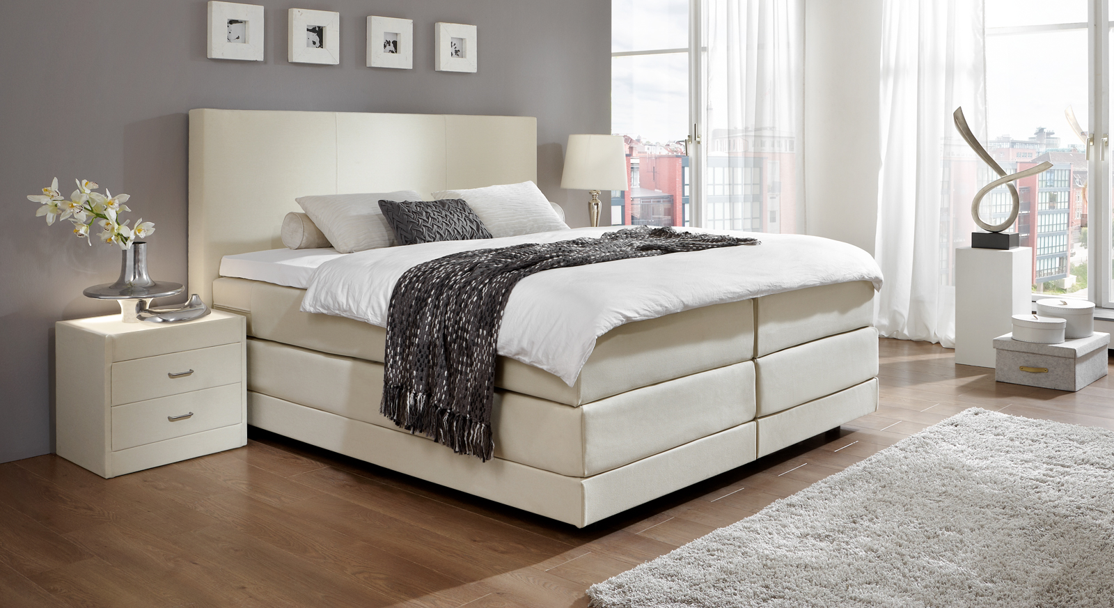 boxspringbett dubai u erst hochwertiges boxspringbett in tollem design. Black Bedroom Furniture Sets. Home Design Ideas