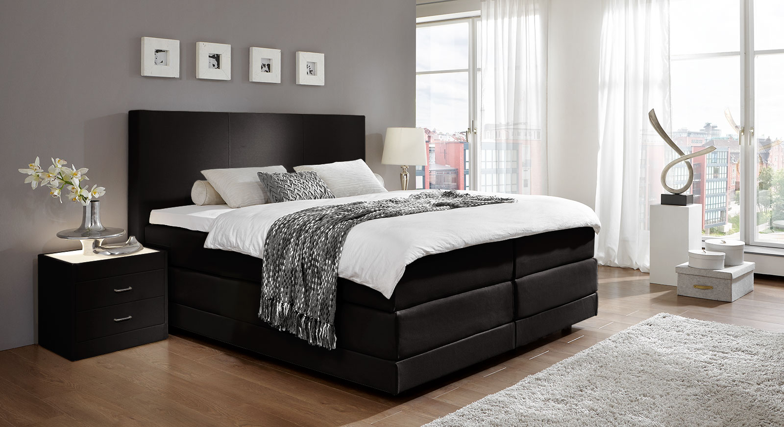 boxspringbett dubai u erst hochwertiges boxspringbett. Black Bedroom Furniture Sets. Home Design Ideas