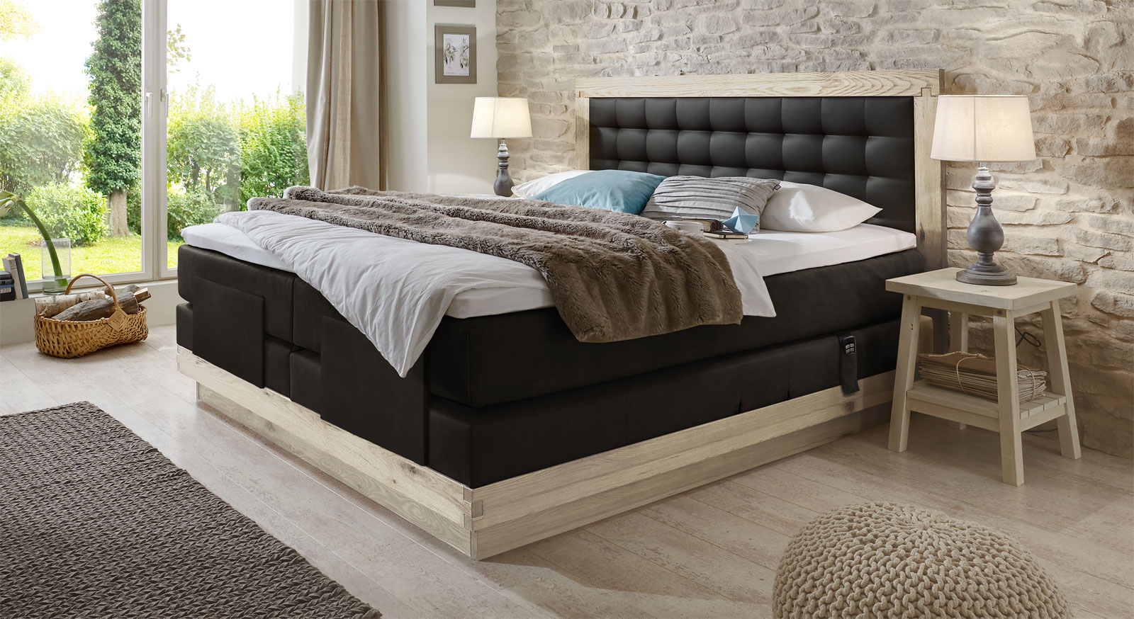 boxspringbetten designs amerika schlafzimmer m belideen. Black Bedroom Furniture Sets. Home Design Ideas