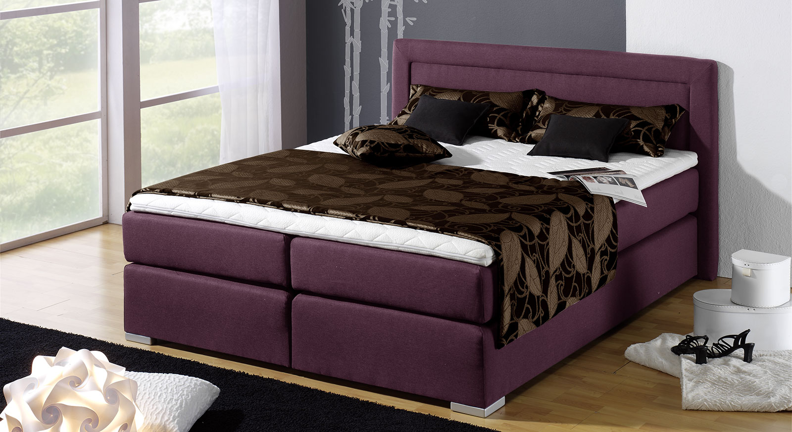 boxspringbett holz g nstig neuesten design. Black Bedroom Furniture Sets. Home Design Ideas