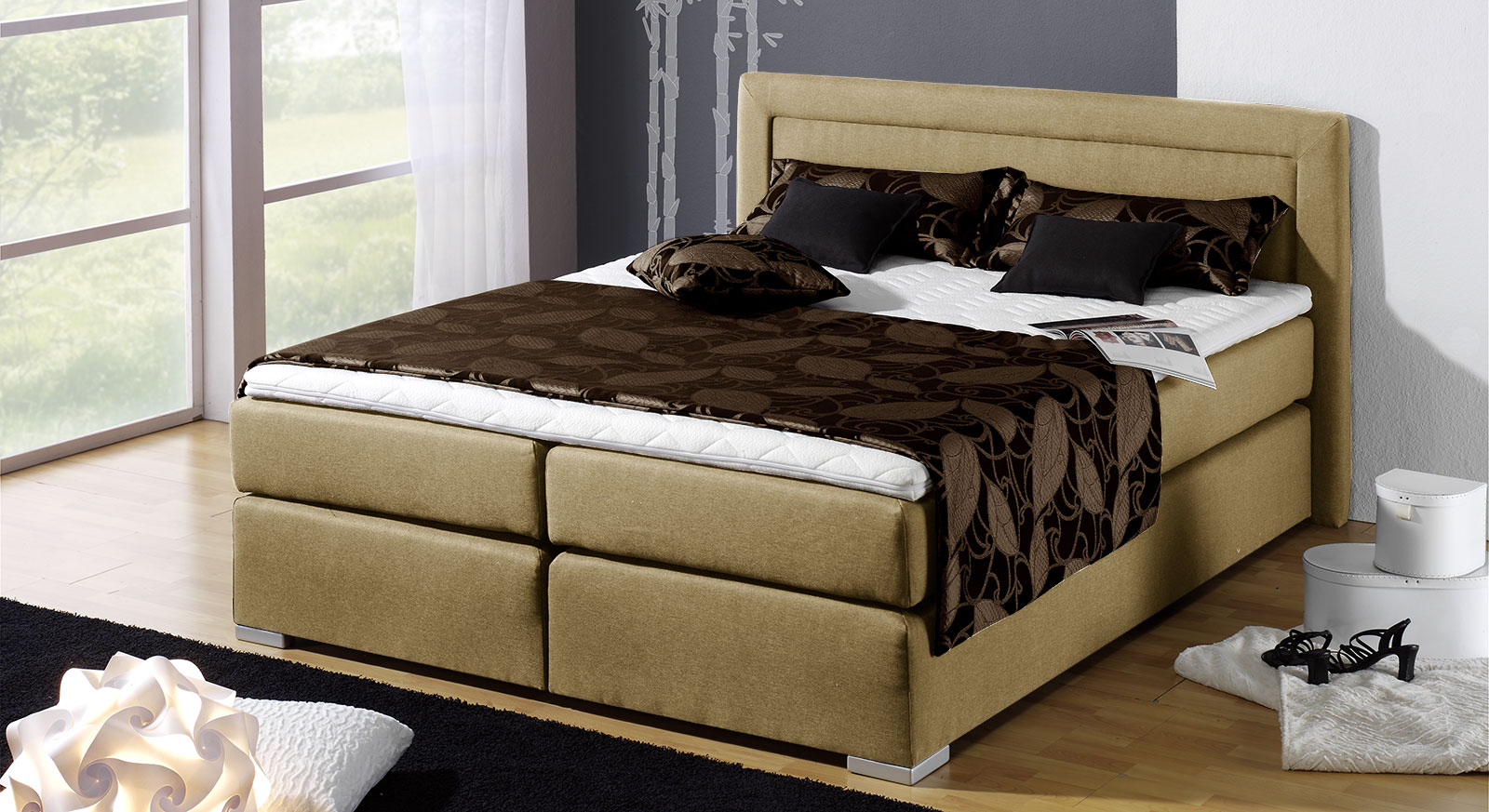 boxspring bett g nstig kaufen bei boxspringbett houston. Black Bedroom Furniture Sets. Home Design Ideas