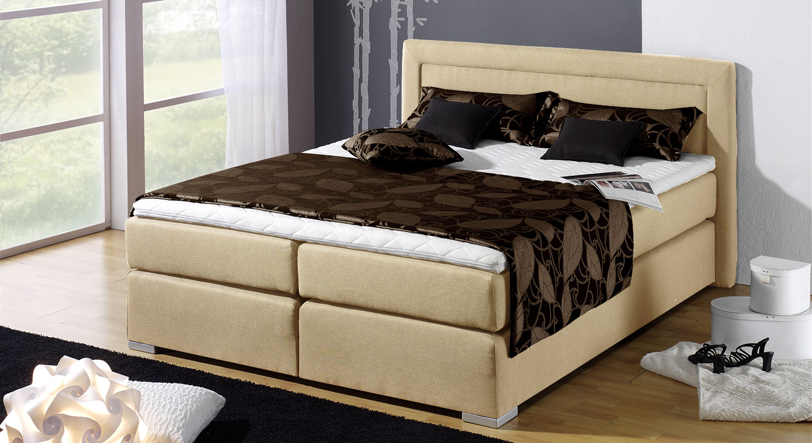 boxspring bett g nstig kaufen bei. Black Bedroom Furniture Sets. Home Design Ideas