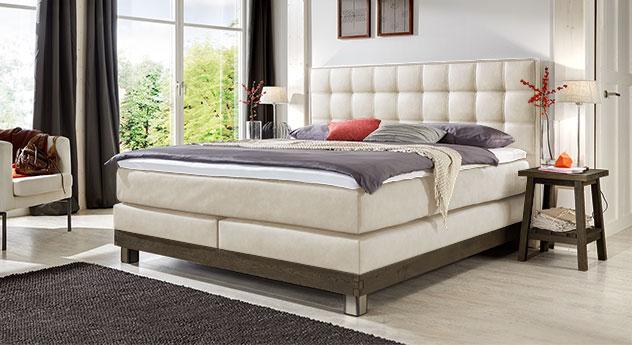 boxspringbett aus echtholz im landhaus look irving. Black Bedroom Furniture Sets. Home Design Ideas