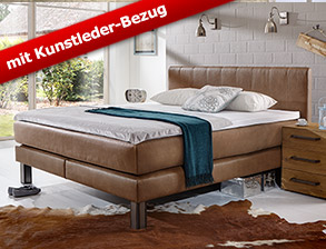 boxspringbetten mit kunstleder g nstig kaufen. Black Bedroom Furniture Sets. Home Design Ideas
