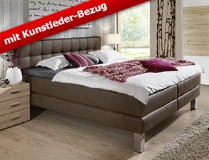 schlafzimmer mit boxspringbett kleiderschrank la mancha. Black Bedroom Furniture Sets. Home Design Ideas