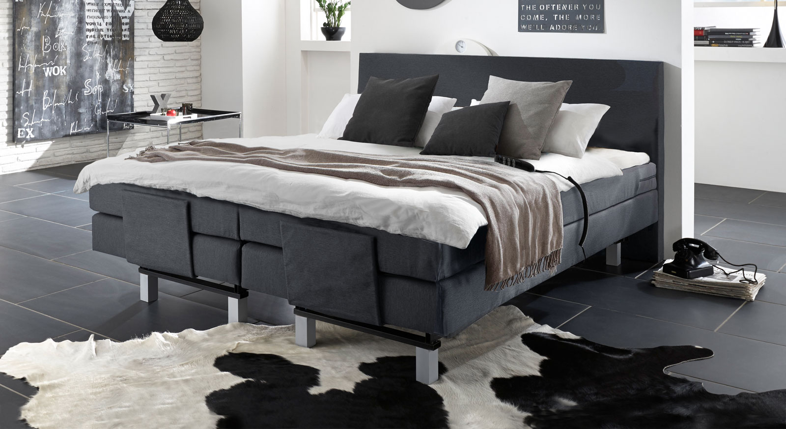 elektrisch verstellbares boxspringbett lanark. Black Bedroom Furniture Sets. Home Design Ideas