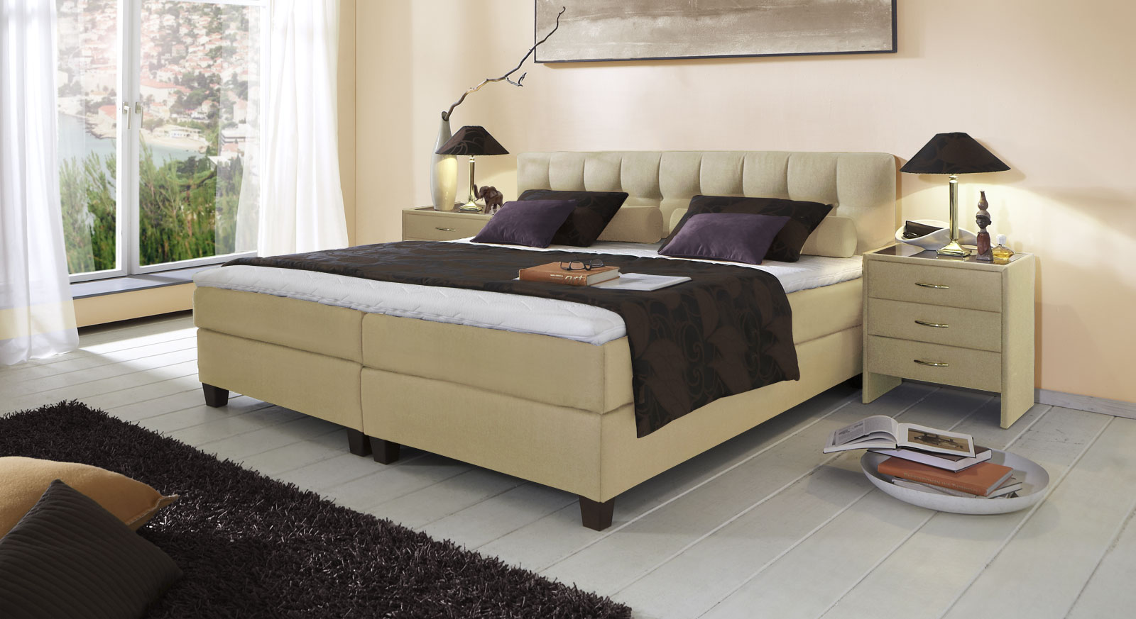 boxspringbett luciano z b in gr e 180x200 cm. Black Bedroom Furniture Sets. Home Design Ideas