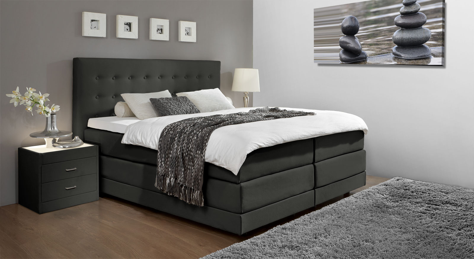 boxspring bett landhausstil boxspring bett landhausstil. Black Bedroom Furniture Sets. Home Design Ideas
