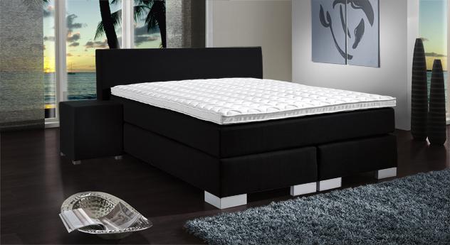 elegantes boxspringbett mit elektrischer verstellung. Black Bedroom Furniture Sets. Home Design Ideas
