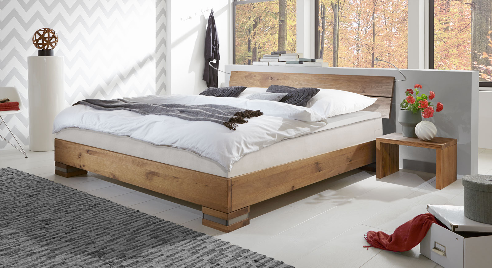 boxspringbett mexiana aus massivholz wildeiche mit einlegesystem. Black Bedroom Furniture Sets. Home Design Ideas
