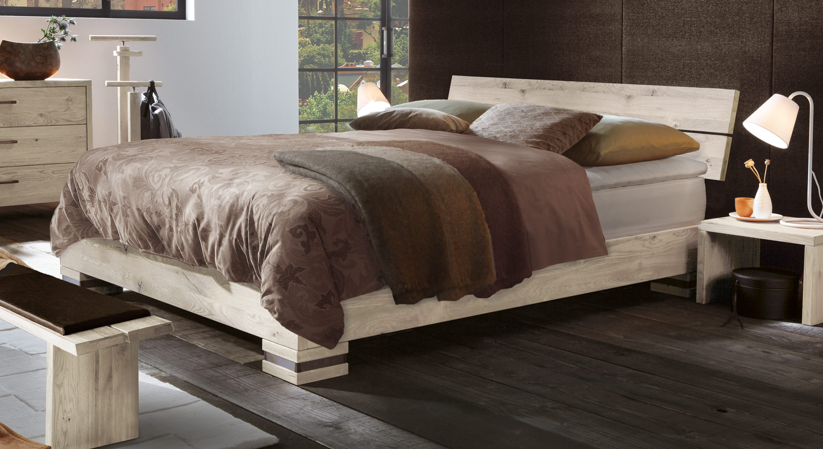 boxspringbett aus holz. Black Bedroom Furniture Sets. Home Design Ideas