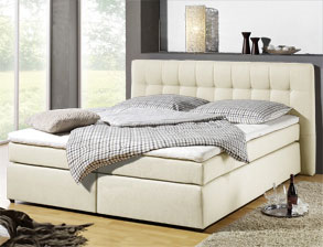 boxspringbett 140 200 beige. Black Bedroom Furniture Sets. Home Design Ideas