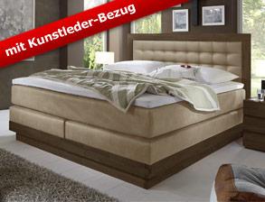 boxspringbetten mit kunstleder g nstig kaufen. Black Bedroom Furniture Sets. Home Design Ideas