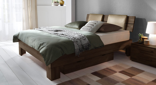 boxspringbett mit massivem holzrahmen port louis. Black Bedroom Furniture Sets. Home Design Ideas