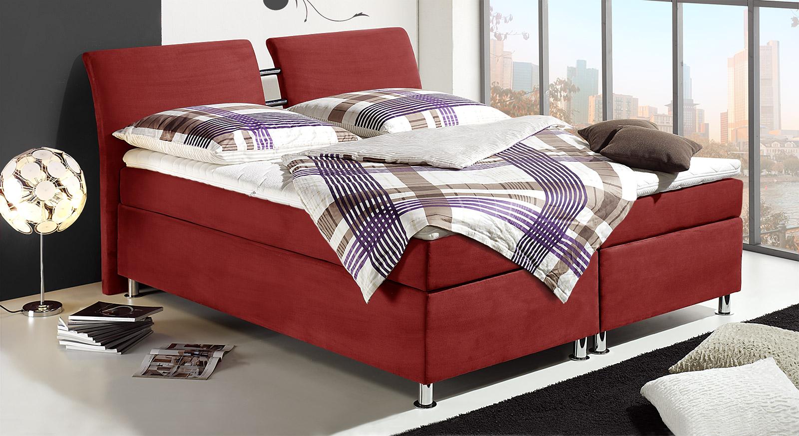 continentalbett mailand mit boxspringsystem und veloursbezug. Black Bedroom Furniture Sets. Home Design Ideas