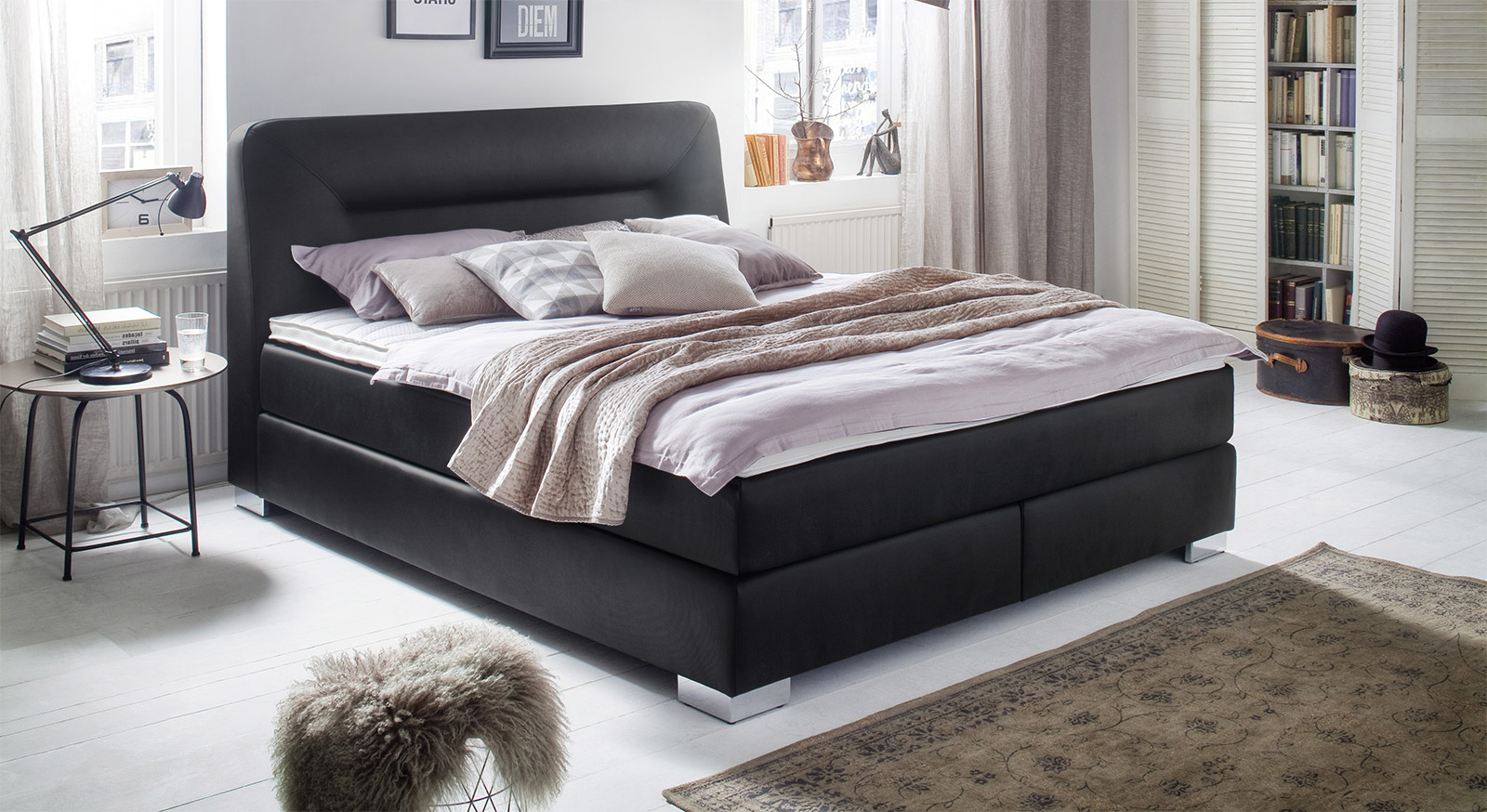 boxspringbett mobel boss. Black Bedroom Furniture Sets. Home Design Ideas
