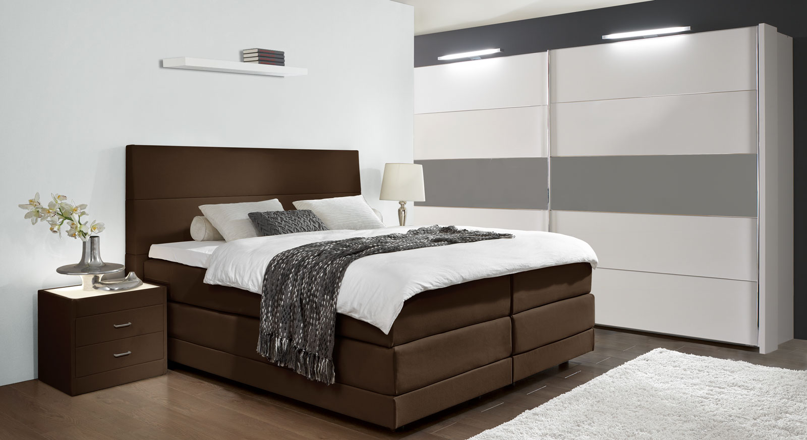 boxspring betten ausergewohnliche m bel und heimat design inspiration. Black Bedroom Furniture Sets. Home Design Ideas