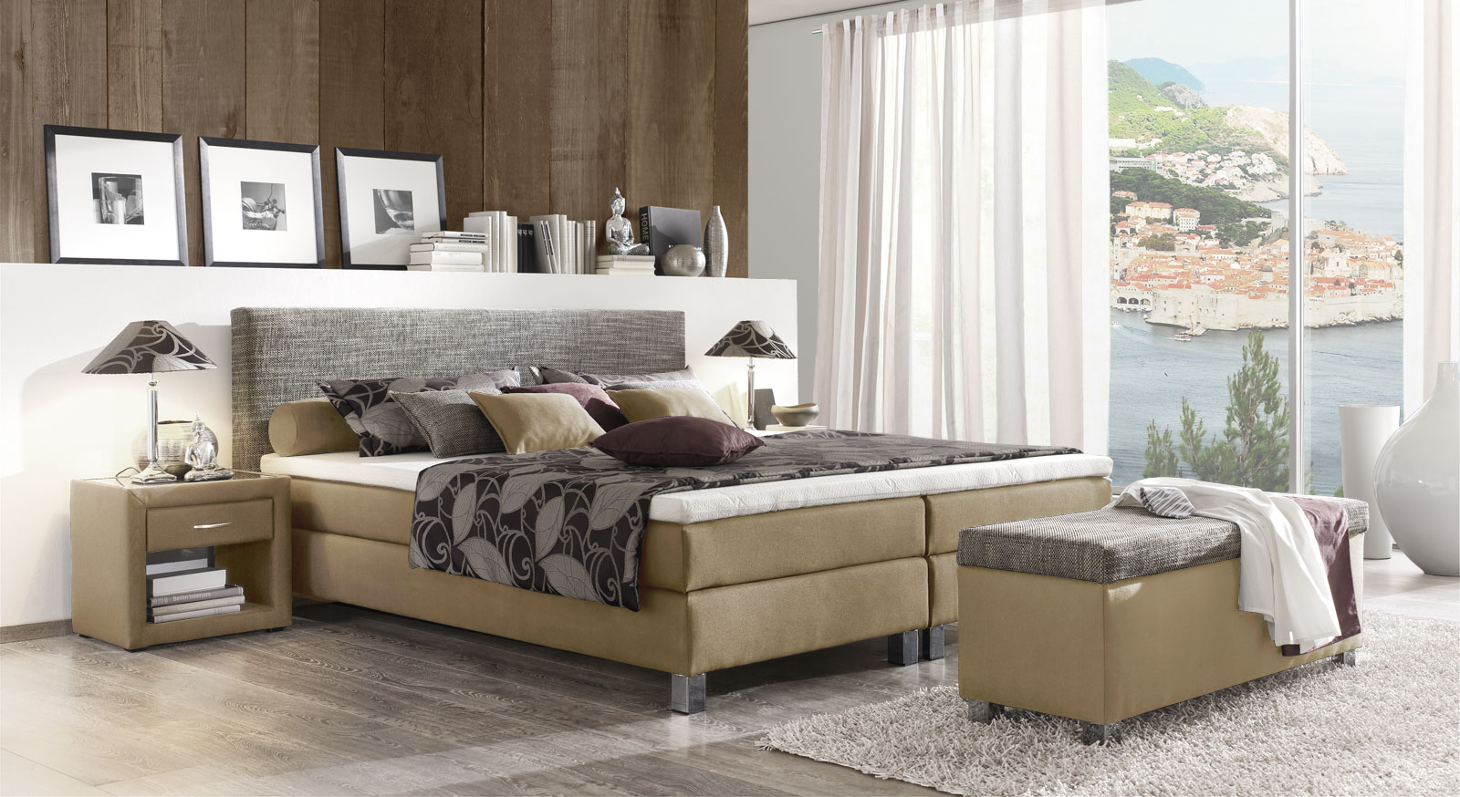 wandgestaltung wohnzimmer beige braun kreative deko. Black Bedroom Furniture Sets. Home Design Ideas
