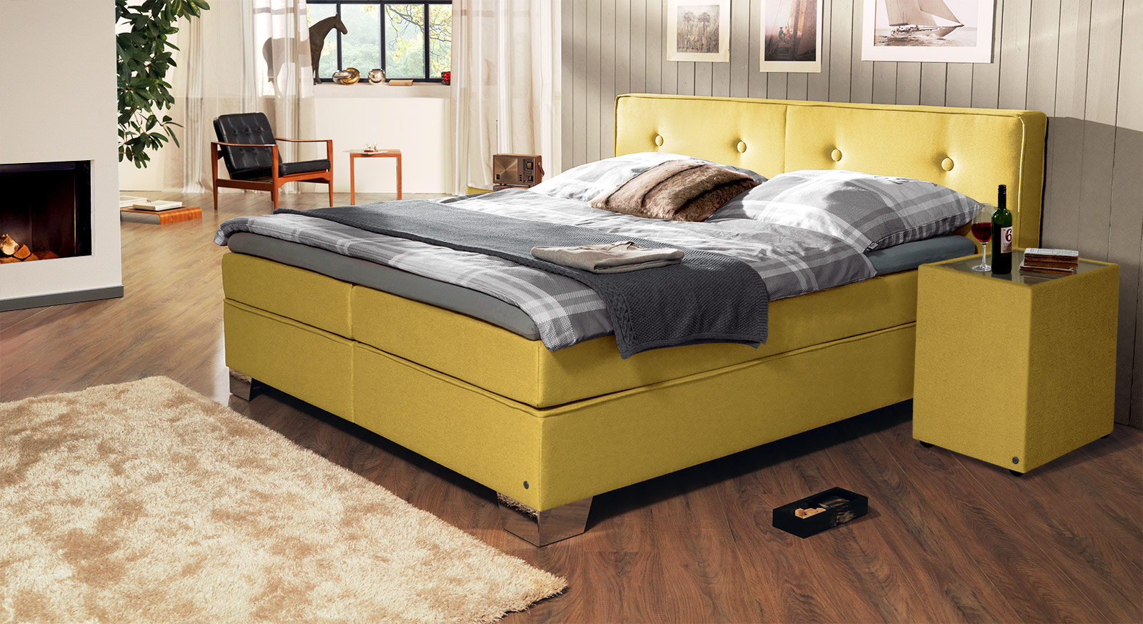 Trendiges TOM TAILOR Soft Boxspringbett in modernen Farben