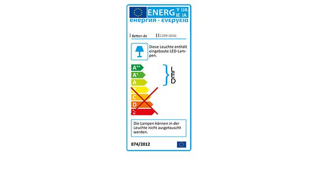 Boxspringbett Vincenzo mit Energieverbrauchskennzeichnung