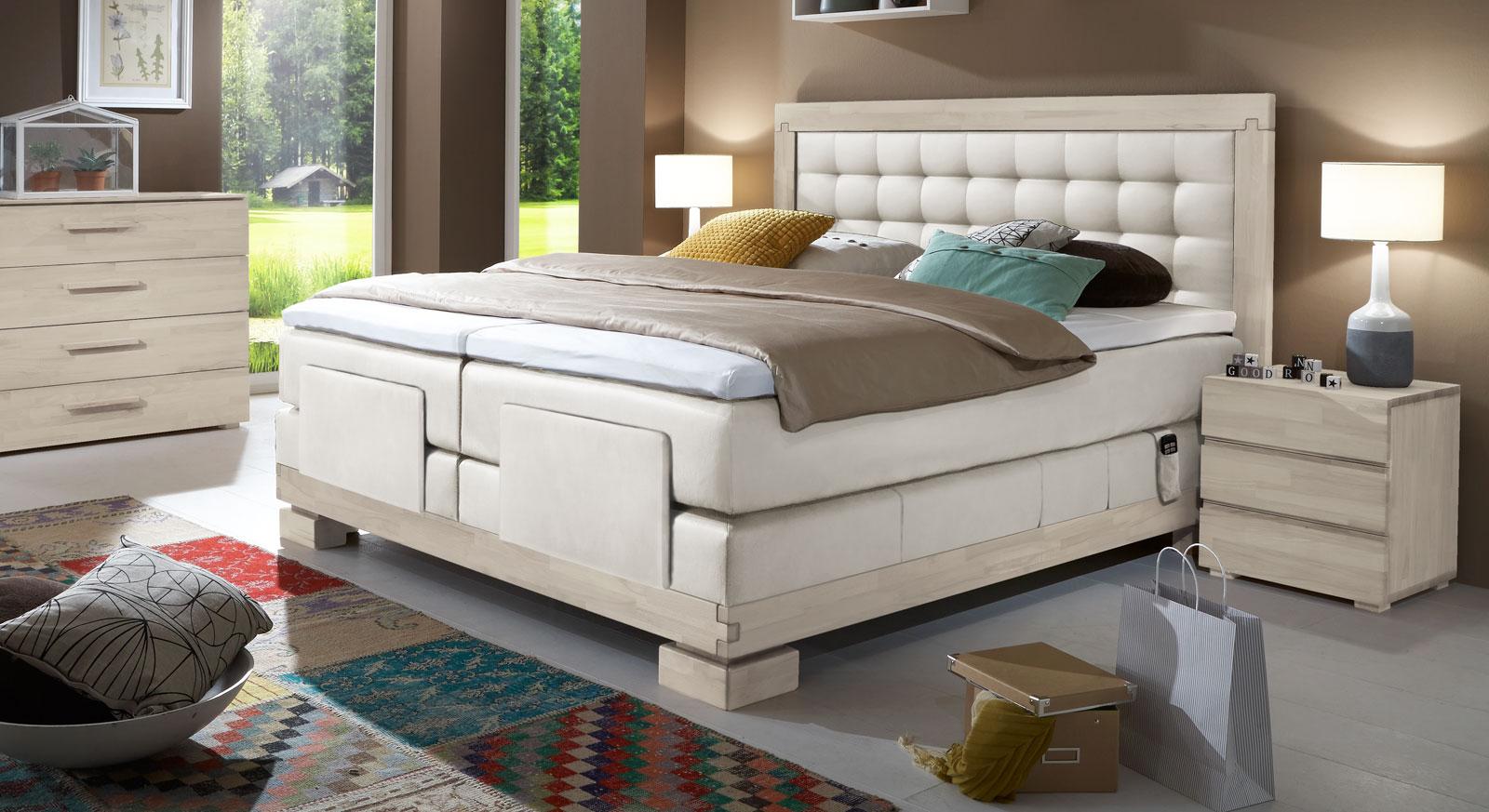 boxspringbett in 160x200 mit motor viterbus elektro. Black Bedroom Furniture Sets. Home Design Ideas