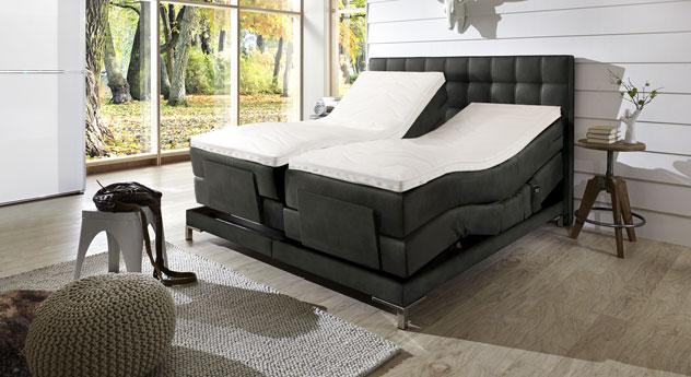 boxspringbett motorisiert in 180x200 cm zamora elektro. Black Bedroom Furniture Sets. Home Design Ideas