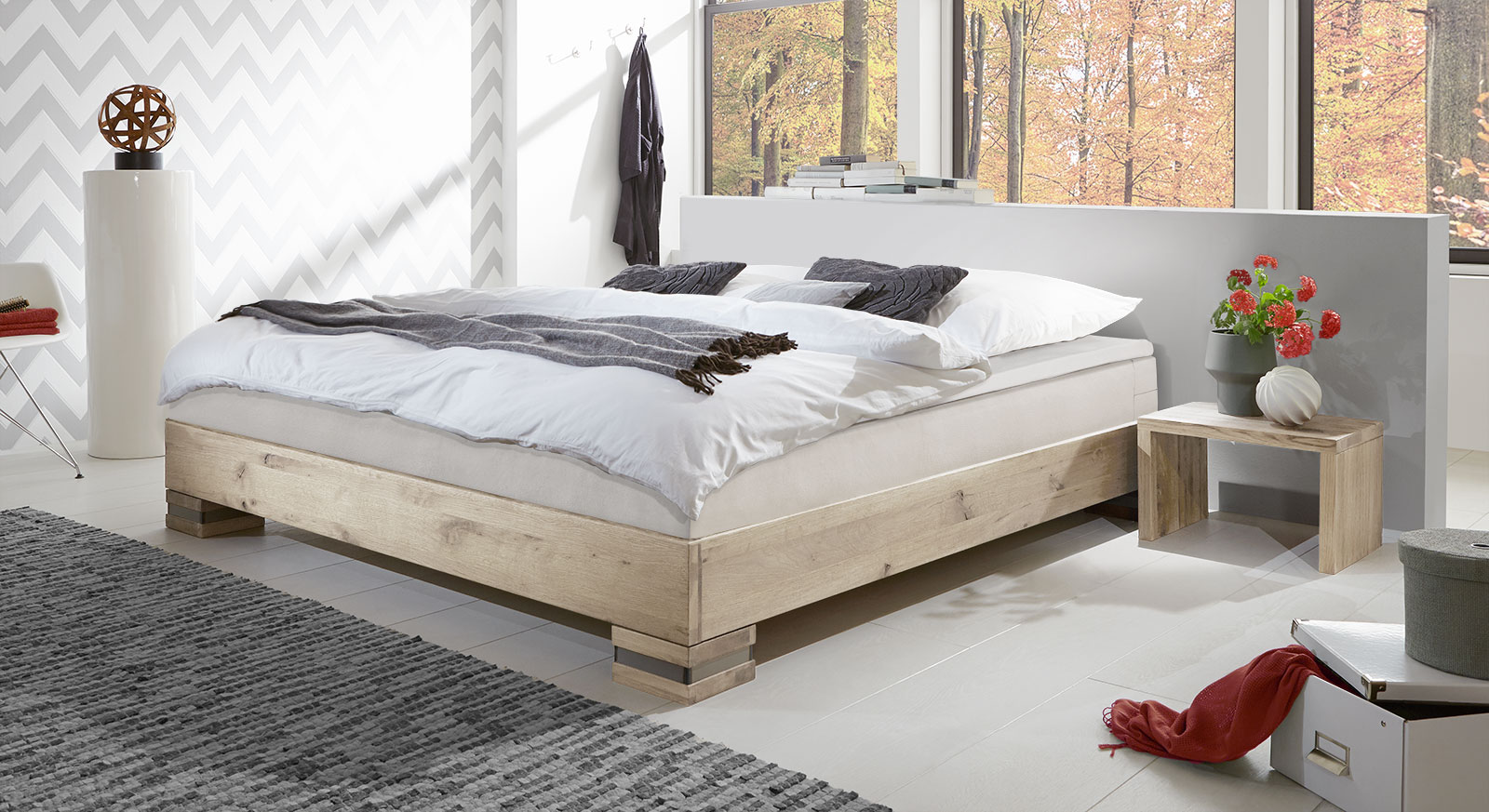 boxspringbett aus wildeiche in futon optik mexiana