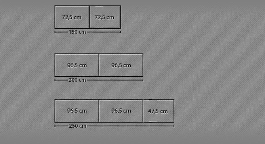 Breitenansicht 150-250cm