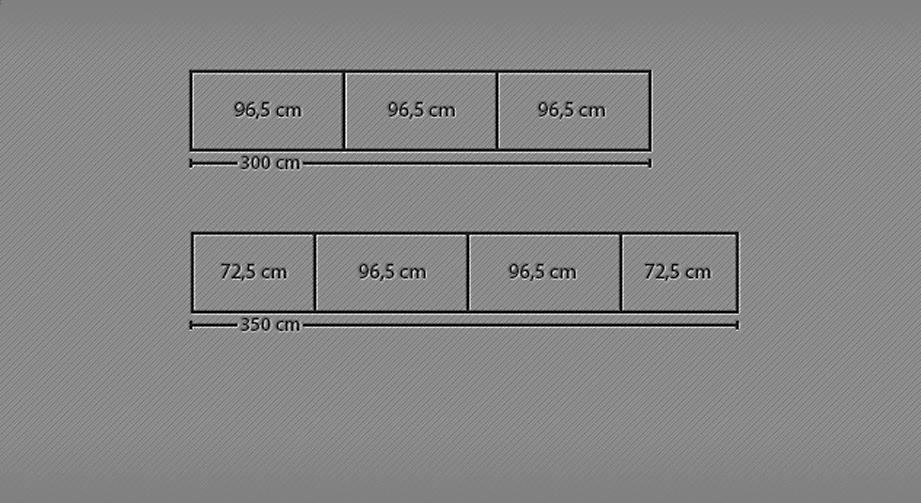 Breitenansicht 300-350cm