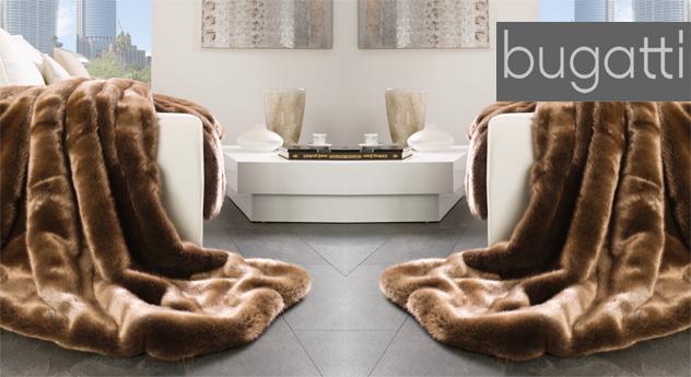 Hochwertige Felldecke Grizzlybär von Bugatti