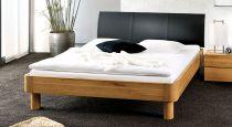 eichenbett massiv ge lt mit vintage kopfteil und f en teko. Black Bedroom Furniture Sets. Home Design Ideas