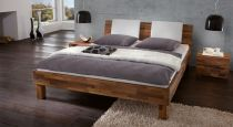 designerbett in nocce 90 cm hoch mit kopfteilpolster akola. Black Bedroom Furniture Sets. Home Design Ideas