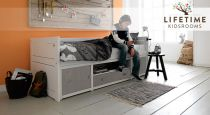 kojenbett mit g stebett schubladen aus kiefer skater. Black Bedroom Furniture Sets. Home Design Ideas