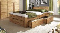 massivholz doppelbett mit bettkasten zarbo. Black Bedroom Furniture Sets. Home Design Ideas