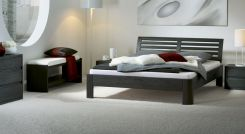eichenbett massiv ge lt mit vintage kopfteil und f en teko. Black Bedroom Furniture Sets. Home Design Ideas