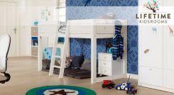mitwachsendes kinderbett aus holz von lifetime 4 in 1 woodland. Black Bedroom Furniture Sets. Home Design Ideas