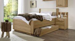doppelbett teilmassiv in komforth he mit zwei schubladen toride. Black Bedroom Furniture Sets. Home Design Ideas