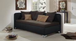 farbiges ausziehsofa mit rollen und ledergriff kids town. Black Bedroom Furniture Sets. Home Design Ideas