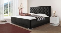 kunstlederbett in braun schwarz oder wei petersfield. Black Bedroom Furniture Sets. Home Design Ideas