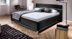 polsterbett in schwarz mit swarovski kristallen capistello. Black Bedroom Furniture Sets. Home Design Ideas