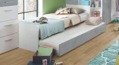 jugendbett mit liegefl che f r g ste zum ausziehen solero. Black Bedroom Furniture Sets. Home Design Ideas