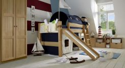 Mini Hochbett Mit Rutsche Tuv Gepruft Kids Paradise