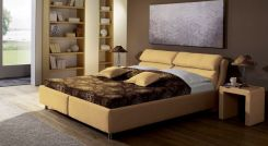 polsterbett cremona hochwertig in creme mit velours bezug. Black Bedroom Furniture Sets. Home Design Ideas