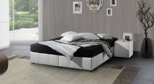 so bauen sie ihr normales bett zu einem boxspringbett um. Black Bedroom Furniture Sets. Home Design Ideas
