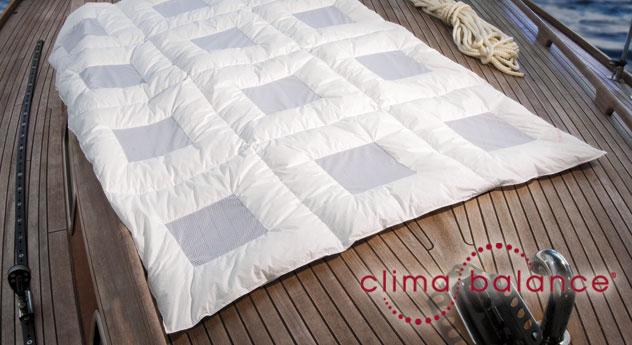 Daunen-Bettdecke clima balance comfort light Mako-Batist