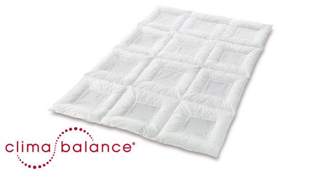 daunen Bettdecke clima-balance premium light komfort